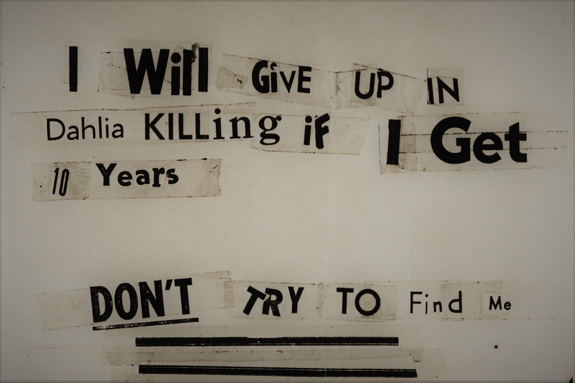 Black Dhalia Avenger - listy od zabójcy