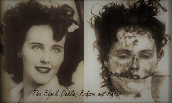 Czarna Dalia - zdjęcie przed porwaniem i zdjęcie pośmiertne (fot. http://thepoliticsforums.com)