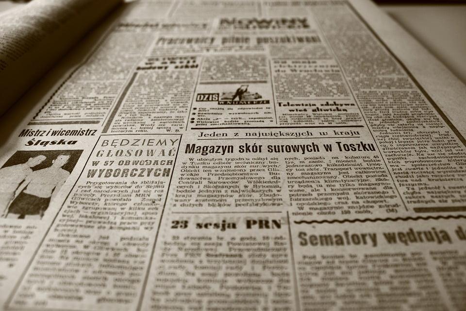 Zawiadomienie o rozprawie umieszczone w gazecie