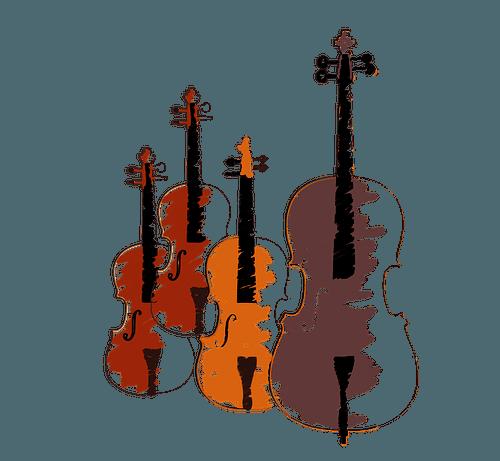 Katalog utworów w świetle prawa autorskiego (na zdjęciu: utwory lutnicze - wiolonczele, skrzypce)