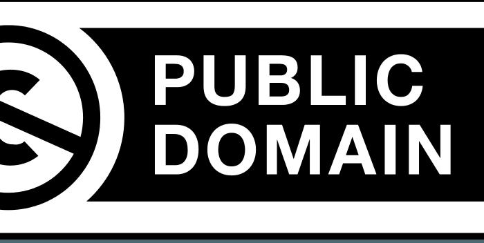 Znak Domeny Publicznej - korzystanie z utworów bez licencji