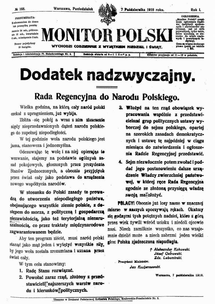 odzyskanie niepodległości, Co stało się rok po odzyskaniu niepodległości przez Polskę?