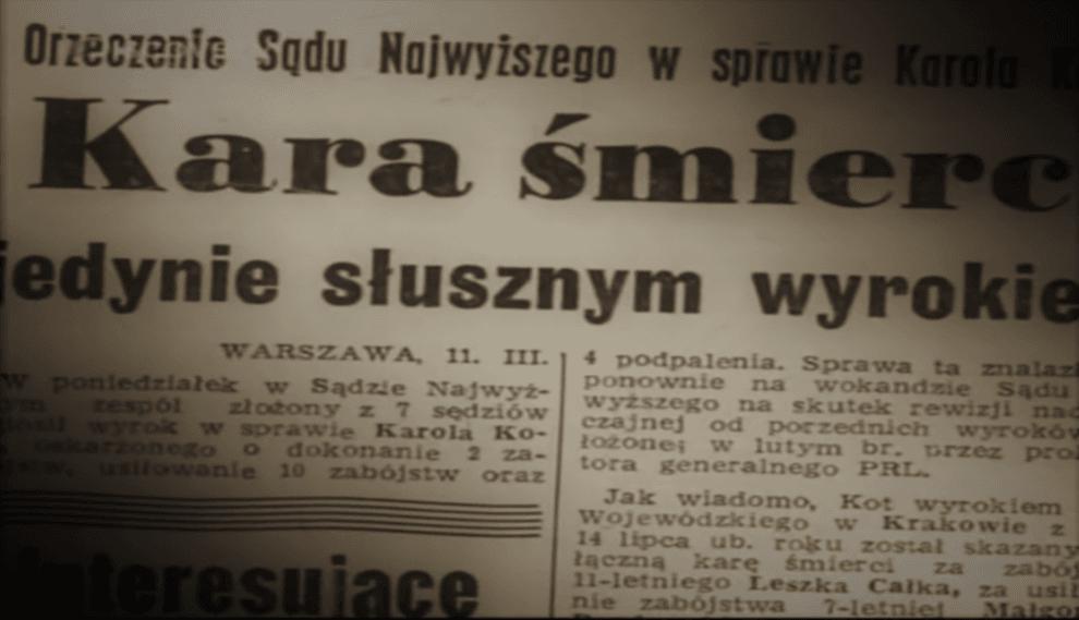 Fragment prasowy - 1966 r. (screenshot - YouTube)