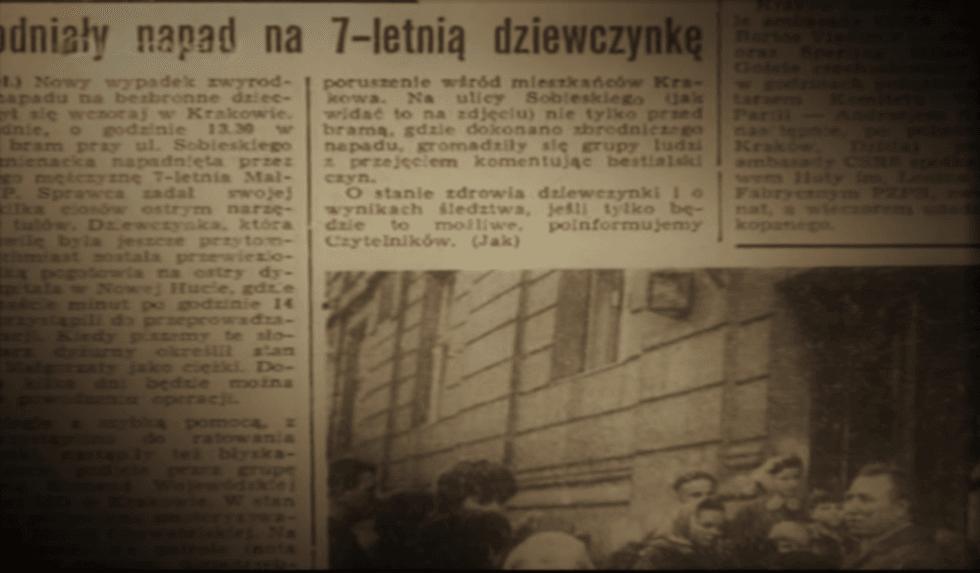 Artykuł prasowy - 1966 r. (screenshot - Discovery/YouTube)