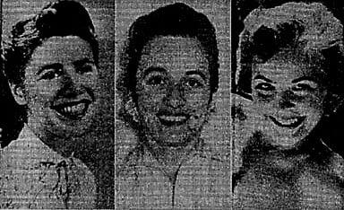 Od lewej: Shirley Ann Bridgeford, Ruth Mercado, Judith Ann Dull