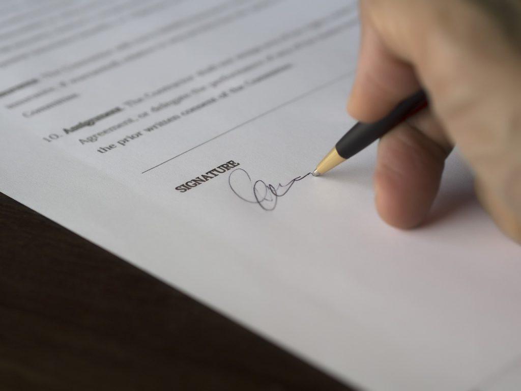 Braki formalne pisma - brak podpisu