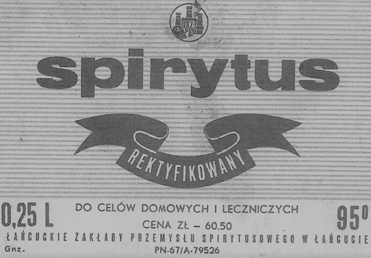 Spiritus rektyfikowany (opisowy znak towarowy)