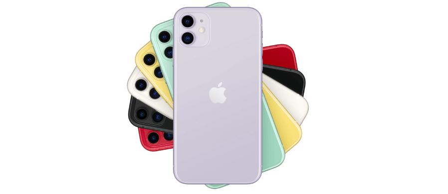Znak graficzny Apple umieszczony na smartfonie