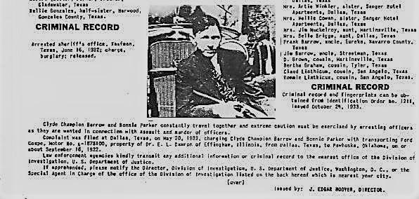 Bonnie i Clyde - list gończy cz. II