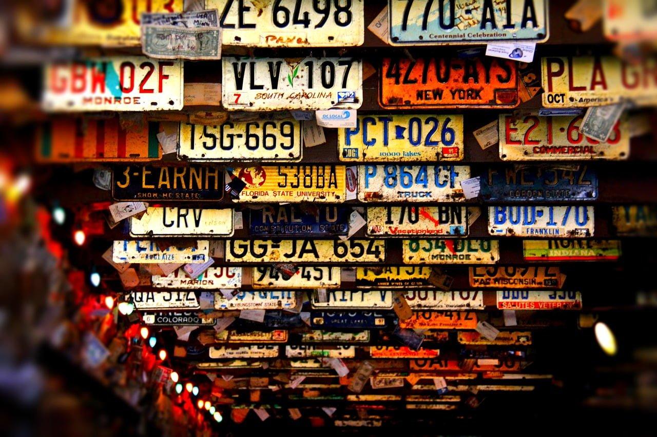 Kradzież tablic rejestracyjnych