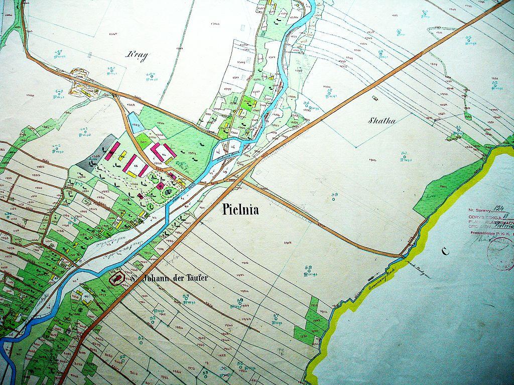 Przekształcenie działki rolnej - Pielnia, mapa 1852, Marek Silarski