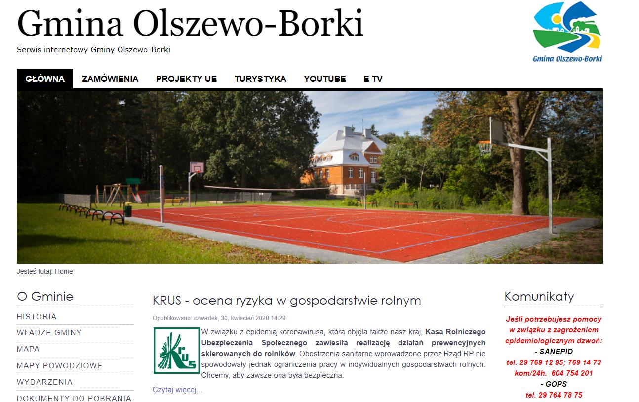 Przekształcenie działki rolnej - Gmina Olszewo Borki I
